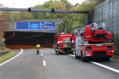 Übung im Tunnel A44 Birth, Velbert