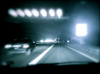 hard shoulder running at night
